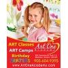 Art School!    Classes,    Camps!    Классы Изобразительного Искусств!